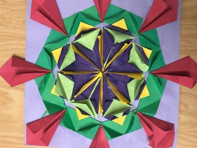 Origami Relief Sculpture For Kids Art Project