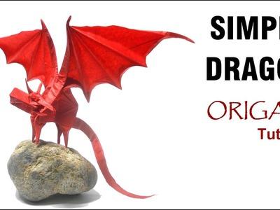 Origami Simple Dragon Tutorial (Shuki Kato) 折り紙 単純なドラゴン  оригами учебник простой дракон