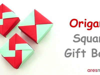 Origami Square Gift Box (3 lid variations) (easy - modular)