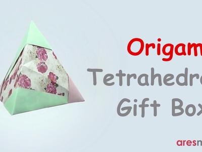 Origami Tetrahedron Gift Box (easy - modular)