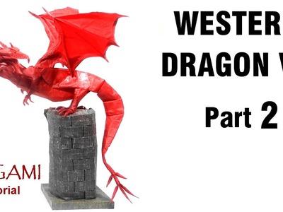 Origami Western Dragon V3 Tutorial (Shuki Kato) Part 2 折り紙 西洋のドラゴン  оригами учебник  Западный Дракон