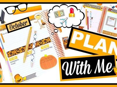 Plan With Me Erin Condren Planner   October 2016 + PLANNER HACKS!