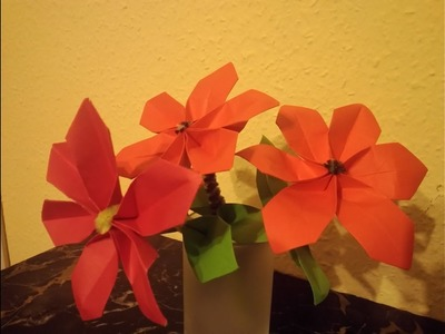 Poinsettia with origami 3D