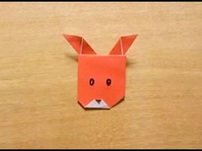 折り紙 Origami・となかいのかお Reindeer's face