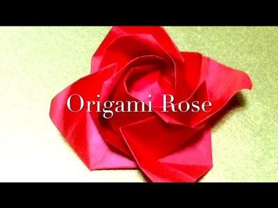 折り紙 バラ【福山ローズ】 解りやすい     Origami Rose