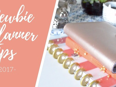 2017 Newbie Planner Tips - Basics and Accessories | Planning for Beginners