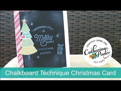 Chalkboard Technique Christmas Card