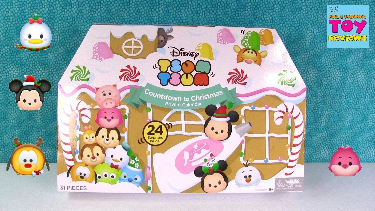 Disney Tsum Tsum Advent Calendar Unboxing Opening Christmas Toy Review | PSToyReviews