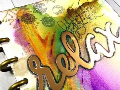 Handmade Art Journal Using the Happy Planner Disc System