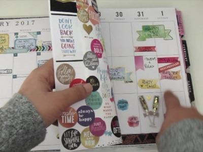 Happy Planner 2017 set up
