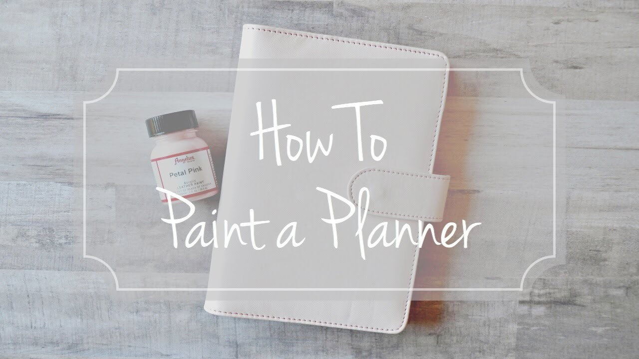 How to Paint a Planner