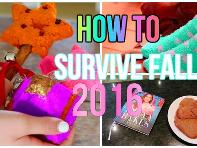 HOW TO SURVIVE FALL 2016\ DIY COOKIES, AUTUMN MAKEUP LOOK AND MORE .