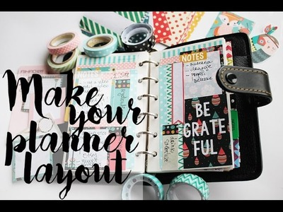 Make your own planner layout - Recycle planner pages