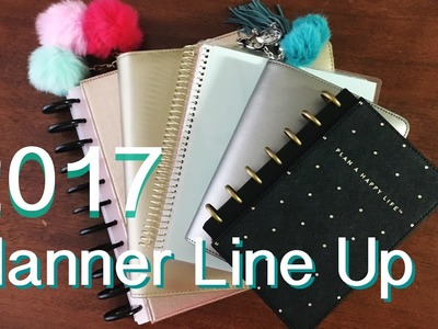 My 2017 Planner Line Up - What I'm Using