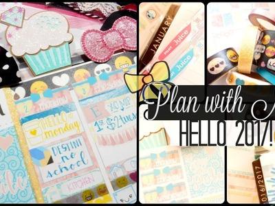 New Year! Fresh Planner! Jan 2-9 in my Erin Condren Life Planner
