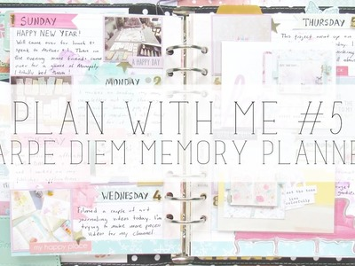 Plan with me #5:  memory planning in my carpe diem  planner