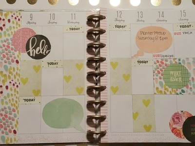 Plan With Me! | NO STICKER NO WASHI | The Happy Planner