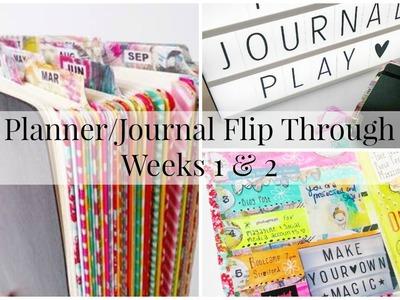 Planner.Journal Flip Through - Weeks 1 & 2