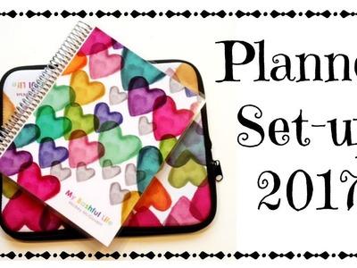 Planner Set-up 2017  Erin Condren Deluxe Monthly Planner