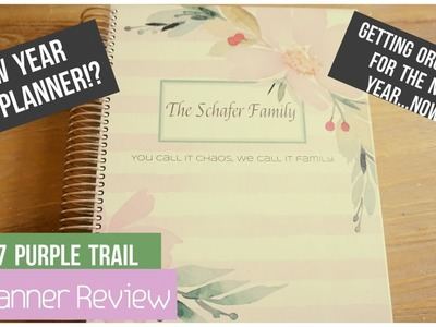 Purple Trail Planner Review - New Year, New Planner!? - Get Organized Now!