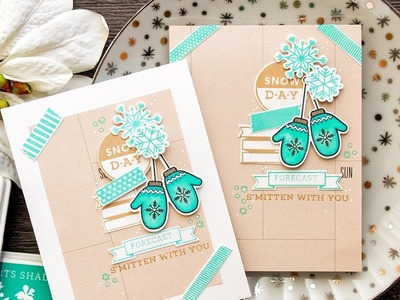 Snowy Winter Card with Planner Products