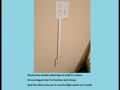 Toddler Lifehack - DIY Light Switch Extender