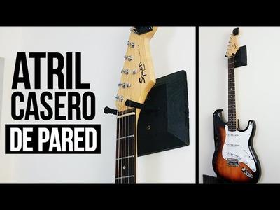 ATRIL PARA GUITARRA CASERO DE PARED   DIY