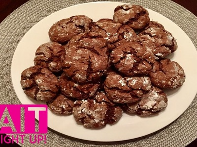 Chocolate Crinkle Cookies Recipe | Easy Christmas Cookies | Cait Straight Up