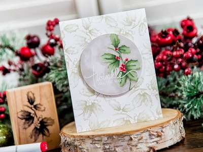 Christmas Card with 3D Shading Stamps