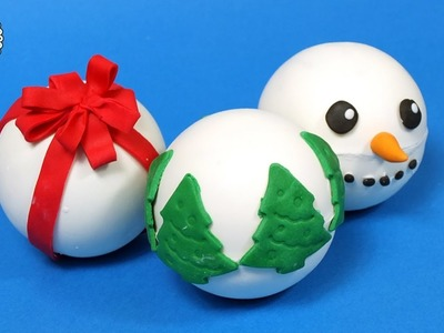 Christmas chocolate balls with candies inside!