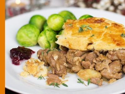 Christmas Dinner Pie Recipe - Tasty Turkey & Pork Filling - Recipes by Warren Nash
