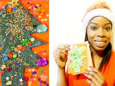 Christmas Tree  Felt Cards Tutorial