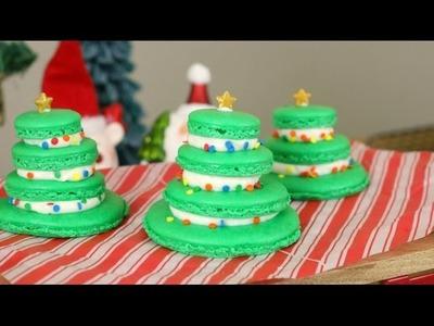 Christmas Tree French Macarons | 12 Days of XMAS Baking! | sweetco0kiepie