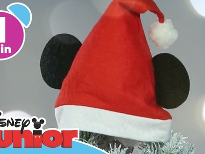 Christmas Tutorials | Mickey Santa Hat | Disney Junior UK
