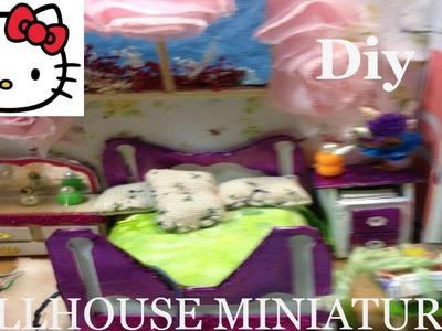 DIY DollHouse Cute Miniature Kit. Bedroom