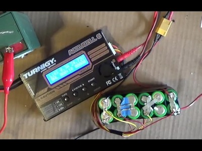 DIY: How to Balance charge Li ion. Lipo battery pack w. a balance charging cable Imax B6 Accucell 6