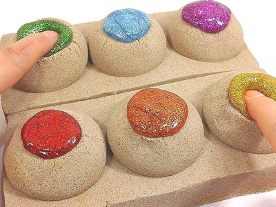 DIY How To Make 'Glitter Slime Kinetic Sand Poop' Learn Colors Slime Clay Surprise Toys | ABC Song