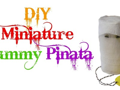 DIY mini Halloween Mummy Pinata