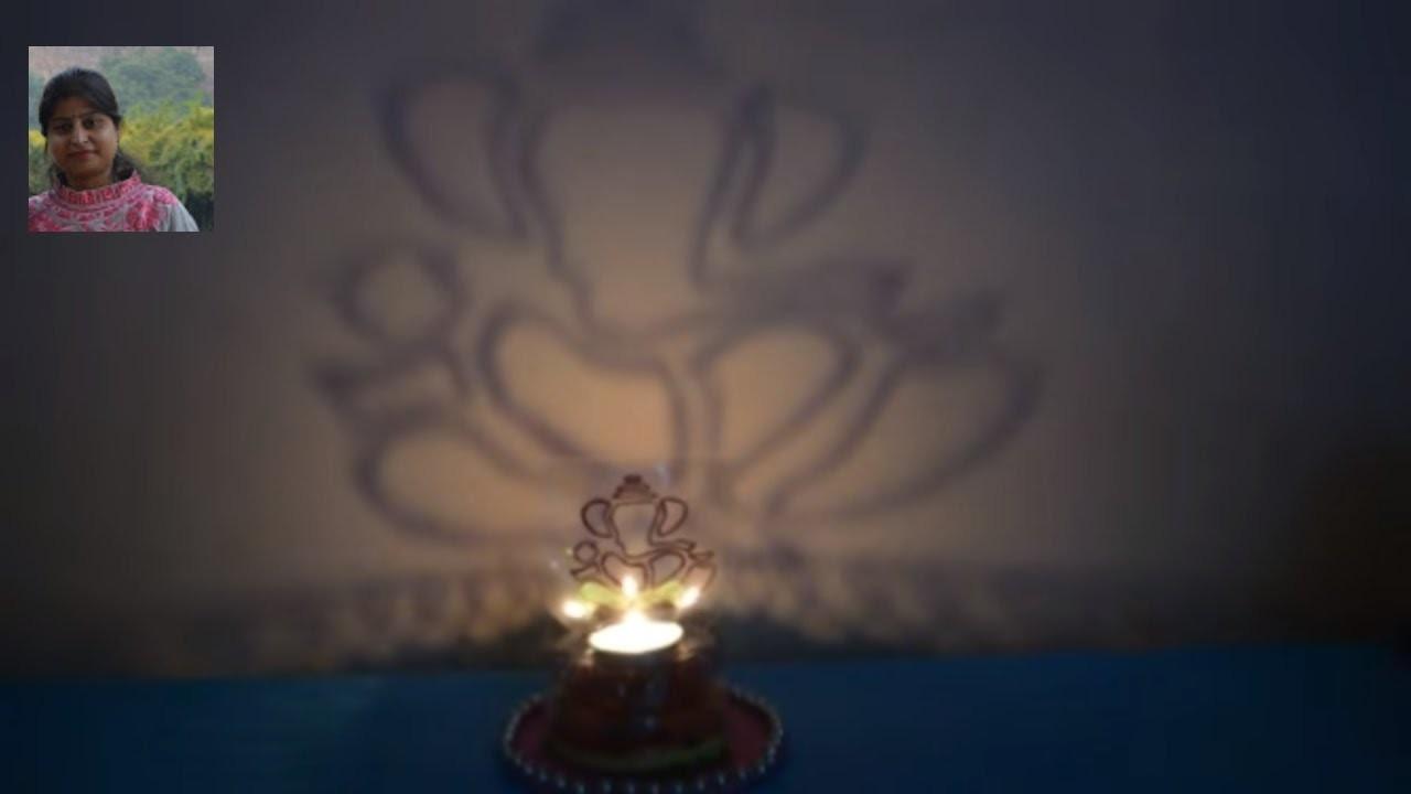 DIY  | Rangoli On Wall | Candle Stand | Nidhi Jain