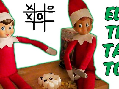 Elf on the Shelf Play Tic Tac Toe & Eat Christmas Cookies PLUS Real Snow Day 11