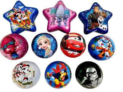 Happy Christmas Ball Surprise Egg Disney Toys