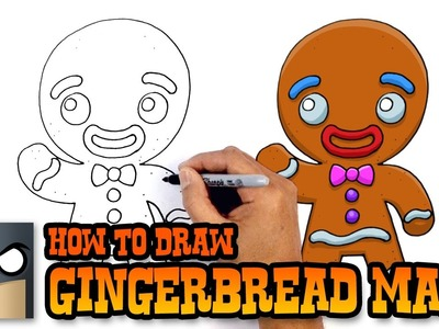 How to Draw Gingerbread Man | Christmas Drawing Lesson