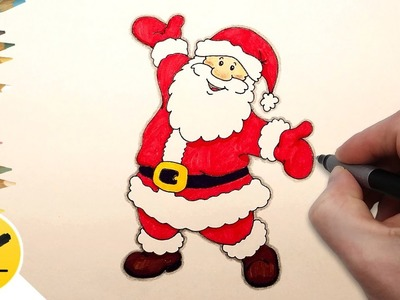 How to Draw Santa Claus Step by Step Easy - Christmas drawings ✔