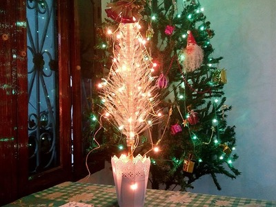 How To Made Christmas Tree using Plastic Bottle - Xmas Decoration