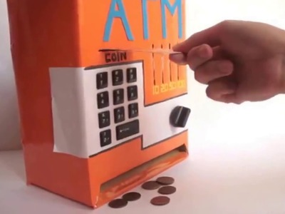 How to make a DIY cardboard ATM in five minutes!