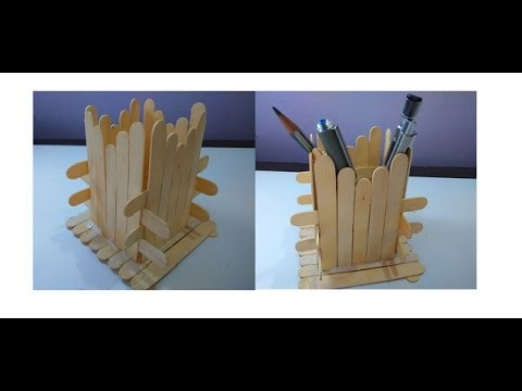 @@How to Make || DIY || Popsicle || Pen Stand || Holder || craft@@