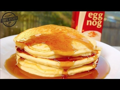 How to make EGGNOG PANCAKES - Easy Christmas dessert recipe