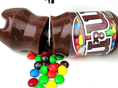 M&Ms Chocolate Jello Jelly Soda Bottle! Easy DIY Dessert Gummy