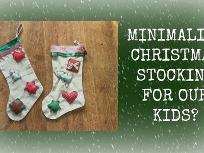 Minimalism with kids: christmas stocking
