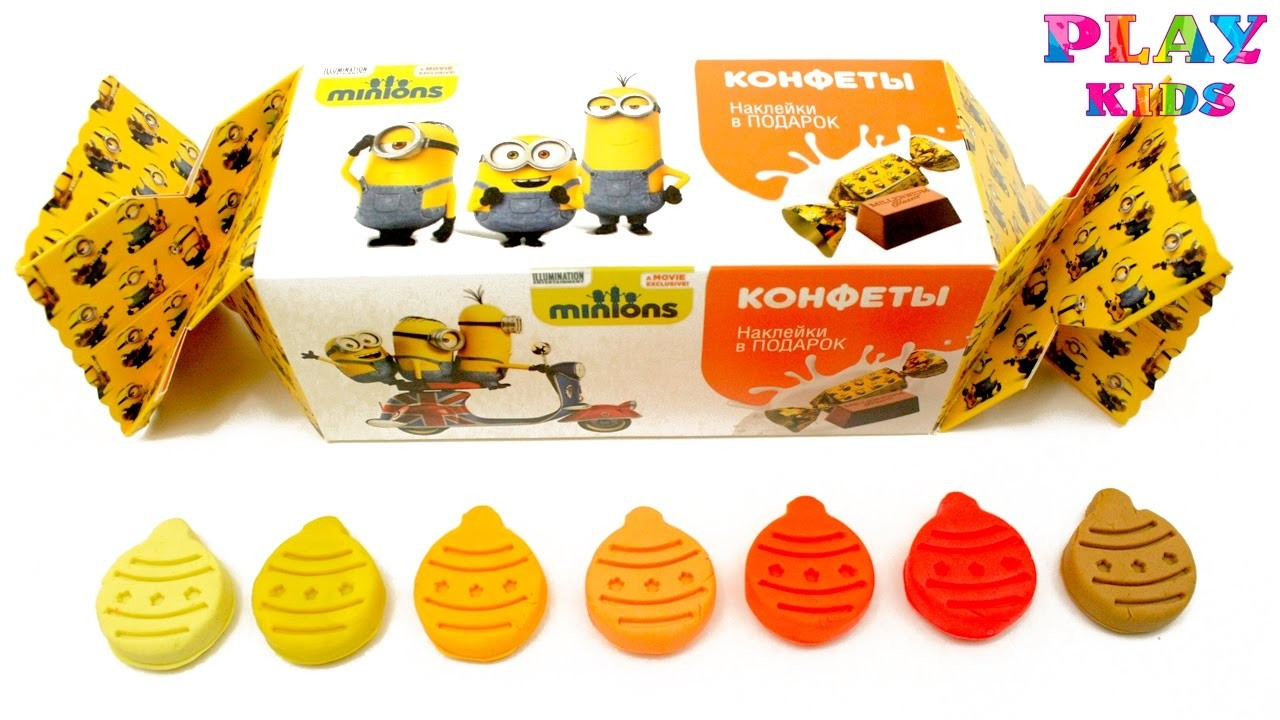 Minions huge candy | Christmas holiday Play-Doh art | Learn colors with Play-Doh molds